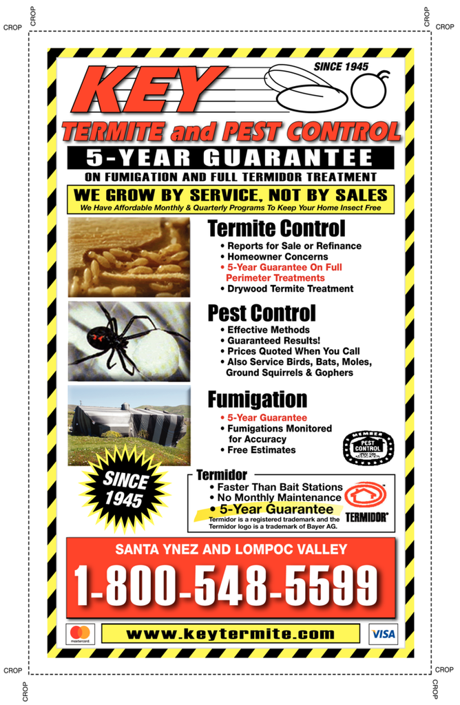 Yellow Pages Ad of Key Termite & Pest Control Inc