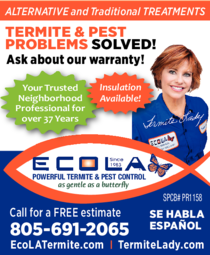 Yellow Pages Ad of Aecola Termite & Pest Control