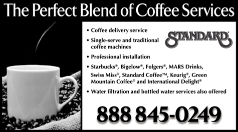 Yellow Pages Ad of Standard Coffee