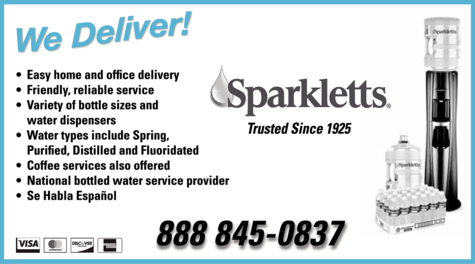 Yellow Pages Ad of Sparkletts® Water