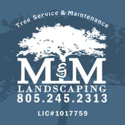M & M Landscaping logo